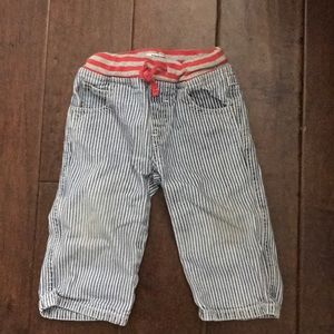 Baby Boden striped jeans. 12-18 months